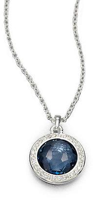 Ippolita Stella London Blue Topaz, Diamond & Sterling Silver Lollipop Pendant Necklace