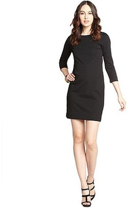Taylor black long sleeve body con dress