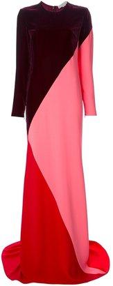 Stella McCartney colour-blocked maxi dress
