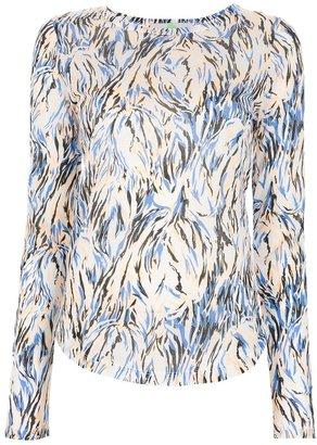Stella McCartney abstract print long sleeve t-shirt