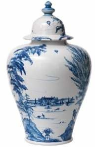 Juliska Country Estate Delft Blue 17 Lidded Ginger Jar