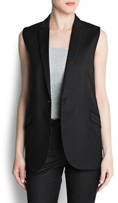 MANGO Outlet Pinstripe Suit Vest