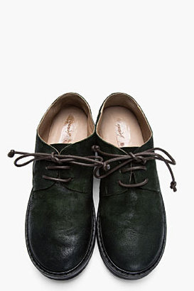 Marsèll Green brushed Suede Parro Shoes