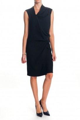 Helmut Lang Drape Dress Black