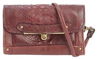 Abaco bordeaux python and leather 'Simone' mini shoulder bag