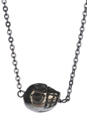 Soixante Neuf Sideways Small Skull Necklace