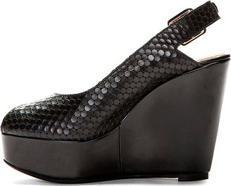 Robert Clergerie Black Bustyma Platform Wedges