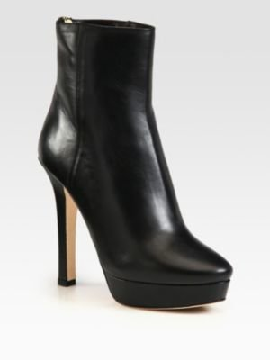 Jimmy Choo Magic Leather Platform Ankle Boots