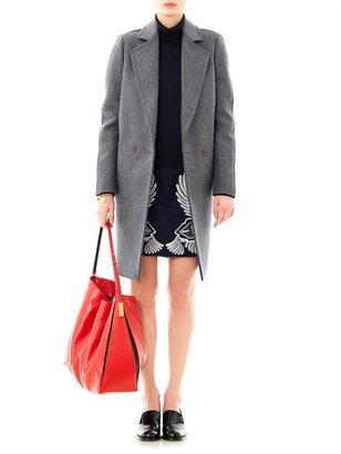 Stella McCartney Eloise bi-colour double breasted coat