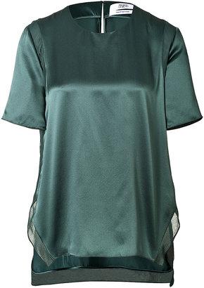 Prabal Gurung Satin T-Shirt Blouse