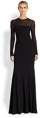 Antonio Berardi Long-Sleeve Gown