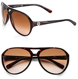Tory Burch Plastic Aviator Sunglasses