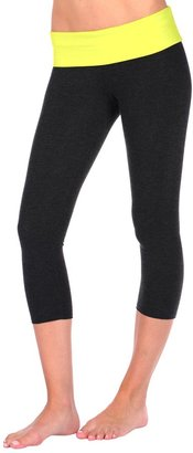 So Low Fold Over 2-Tone Crop Pant