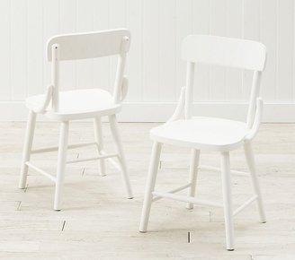 Hudson Kid Chair Set of 2, Simply White