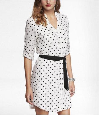 Express Printed Portofino Shirt Dress