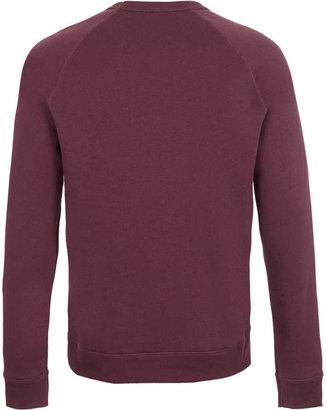 Topman Wine Colour Basic Sweatshirt