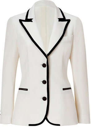 Moschino Cheap & Chic Wool Blazer with Velvet Trim