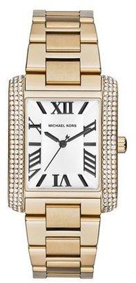 MICHAEL Michael Kors Michael Kors 'Emery' Crystal Accent Bracelet Watch, 31mm x 40mm