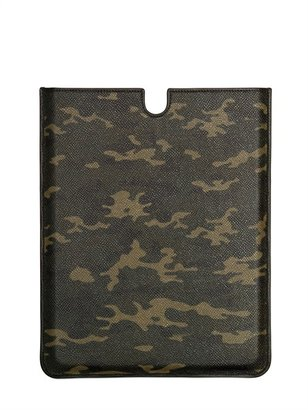 Dolce & Gabbana Camouflage Printed Leather I-Pad Case