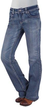 Zenim Lotus Bootcut Jeans - Mid Low Fit, Stretch Cotton (For Women)