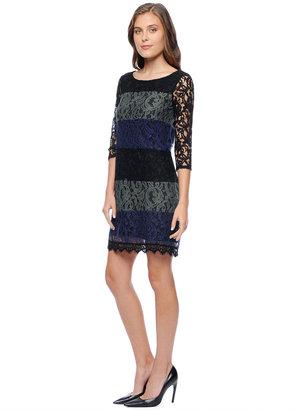 Ella Moss Victoria Lace Colorblock Dress