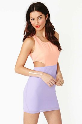 Nasty Gal Cutout Dress - Fizz