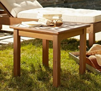 Pottery Barn Chatham Square Side Table, Honey