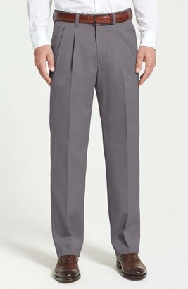 Nordstrom 'Classic' Smartcare(TM) Relaxed Fit Double Pleated Cotton Pants