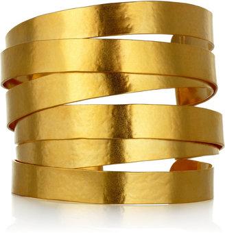 Herve Van Der Straeten 24-karat gold-plated cuff