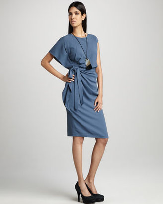 Lafayette 148 New York Talulah Side-Ruffle Dress