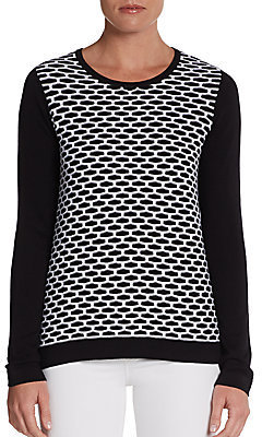 Tibi Sporty Mesh-Front Sweater