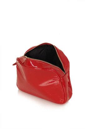 Topshop Patent Basic Make Up Bag