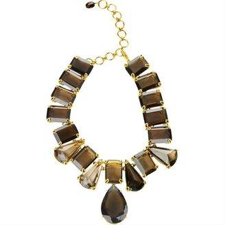 Bounkit Smoky Topaz Deco Necklace