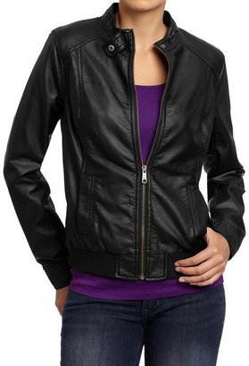 Old Navy Women's Faux-Leather Moto Jackets