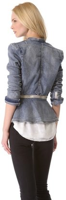 Rebecca Taylor Denim Flare Jacket