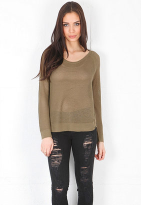 Rag and Bone Island Raglan Pullover in Olive