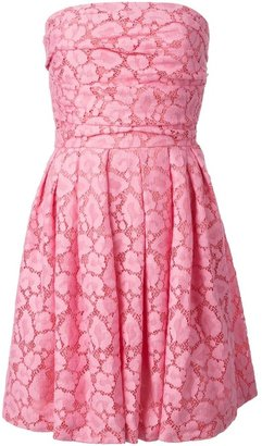 Moschino Cheap & Chic strapless lace dress