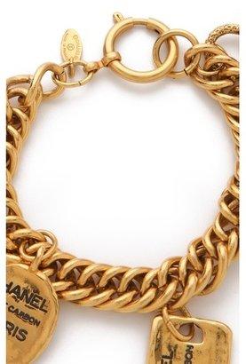 WGACA Vintage Chanel Plaques & Cut Coin Bracelet