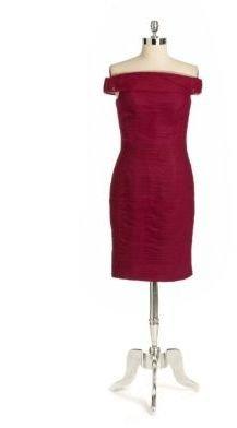 Monique Lhuillier ML Sleeveless Cowlneck Dress