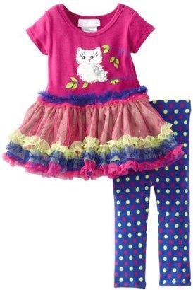 Bonnie Baby Baby-Girls Infant Owl Tutu Legging Set
