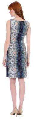 Kay Unger Ikat Print Sleeveless Dress