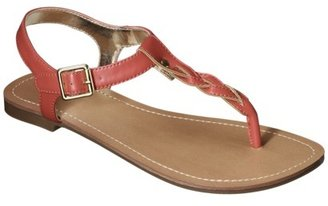 Merona Women's Erin Braided Upper Sandal - Coral