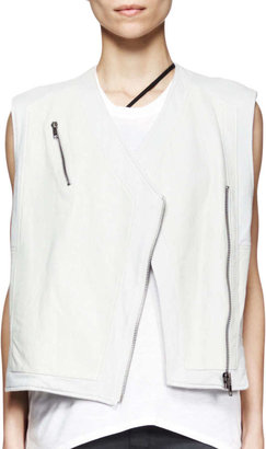 Helmut Lang Boxy Leather Biker Vest