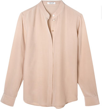 Everlane Silk Blouse - Band Collar