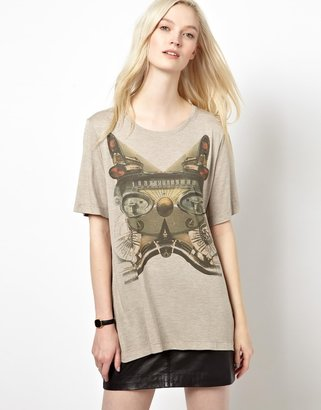 Emma Cook T-Shirt with Vintage Car Print