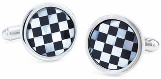 Brooks Brothers Round Checkerboard Classic Cuff Links