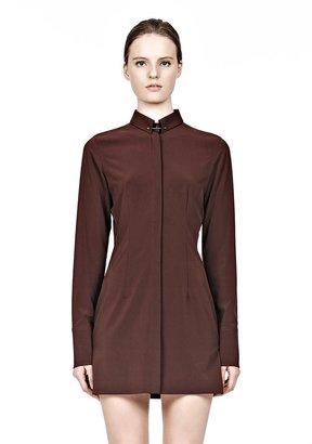 Alexander Wang Fitted Shirt Dress With Collar Pin