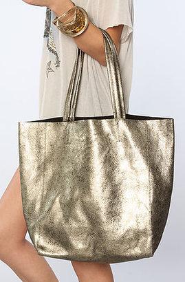 Yosi Samra The Muted Metallic Tote Bag in Gold