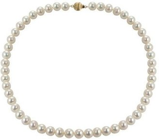 "Honora Cultured Pearl 8.0mm Semi-Round 18"" Necklace, 14K"