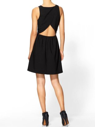 BCBGMAXAZRIA Tinley Road Cutout Back Fit and Flare Dress